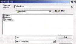 Fark Basınç Ölçüm Cihazı PCE-P15 / 30 / 50 için olan yazılımın bir diğer görüntüsü
