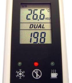 Hijyen Ölçüm Cihazı PCE-IR 100'nin ekranı.