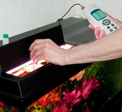 Akvaryumda Su Analiz Cihazı PCE-228 ile ölçüm yapılırken.
