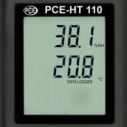 PCE-HT 110 sicaklik ve nem Nem Ölçer önden bakis