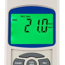 Makina analiz cihazı PCE-VT 2800'in ekranı